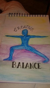 Artwork inspired by Yoga and Creative Writing Workshop